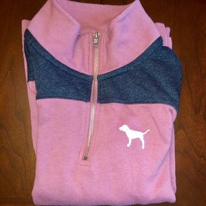 PINK Victoria Secret mauve 3/4 zip up
